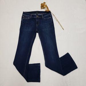 White House Black Market Boot Leg Rhinestone Jeans